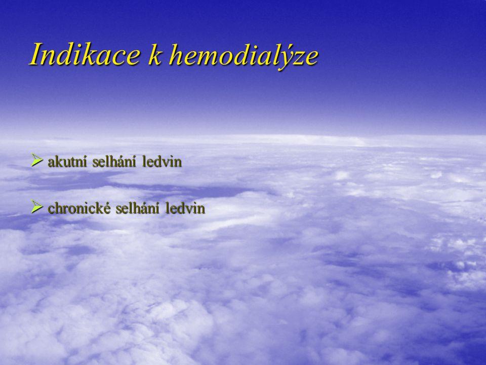 Indikace k hemodialýze