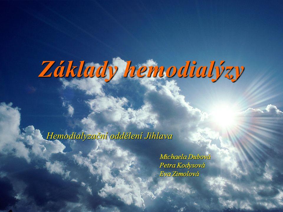 Základy hemodialýzy Hemodialyzační oddělení Jihlava Petra Kodysová