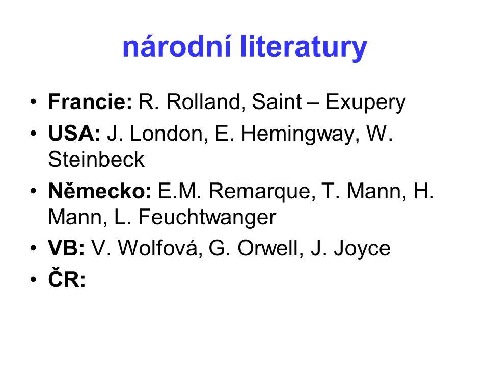 národní literatury Francie: R. Rolland, Saint – Exupery