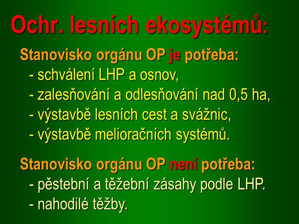 Ochr. lesních ekosystémů: