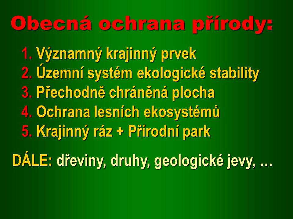 Obecná ochrana přírody: