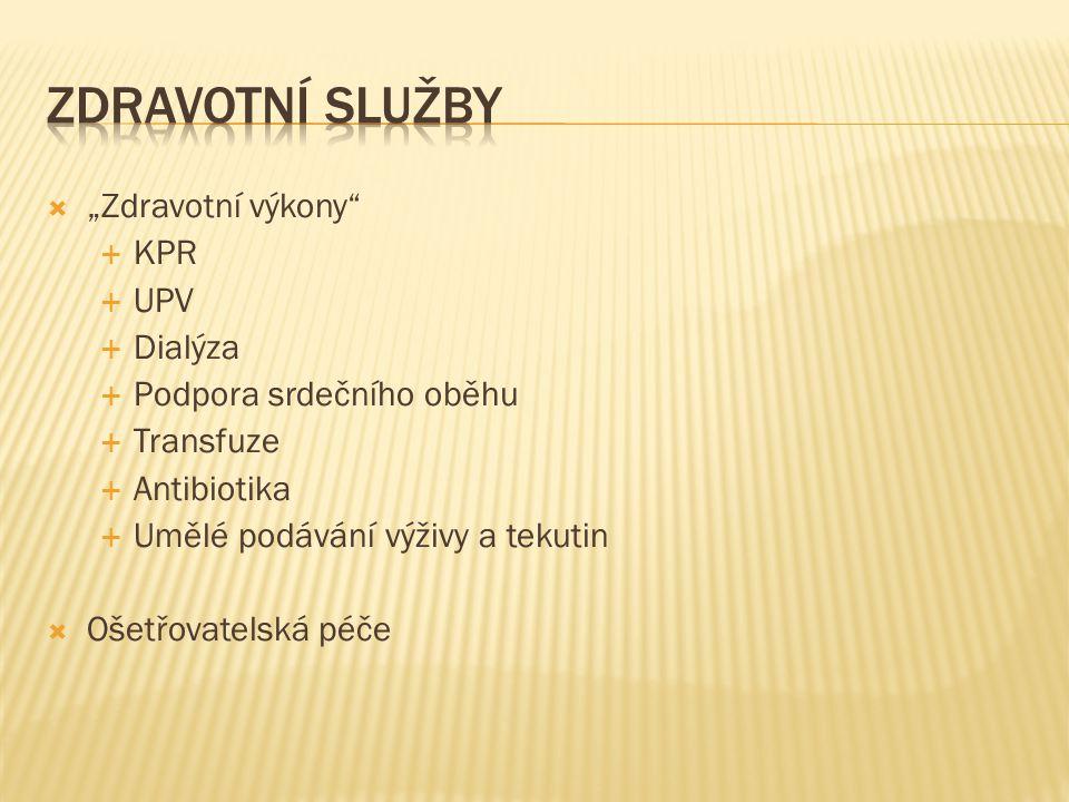 """Zdravotní služby """"Zdravotní výkony KPR UPV Dialýza"""