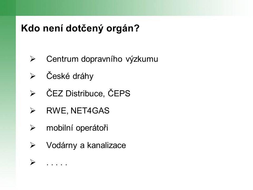 Kdo není dotčený orgán Centrum dopravního výzkumu České dráhy