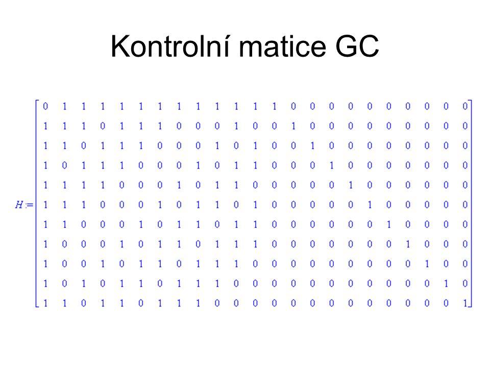Kontrolní matice GC