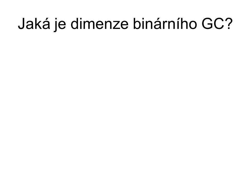 Jaká je dimenze binárního GC