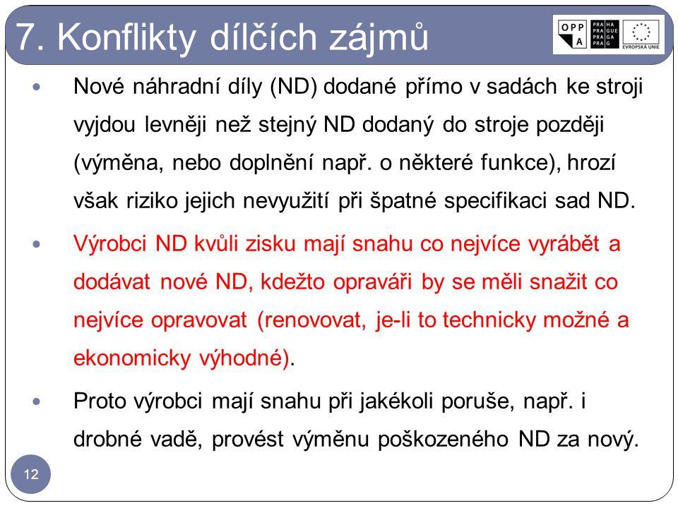 7. Konflikty dílčích zájmů