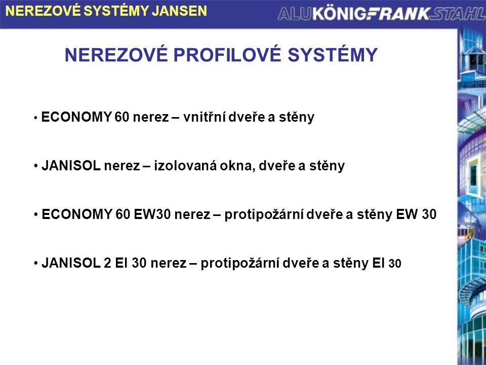 NEREZOVÉ PROFILOVÉ SYSTÉMY