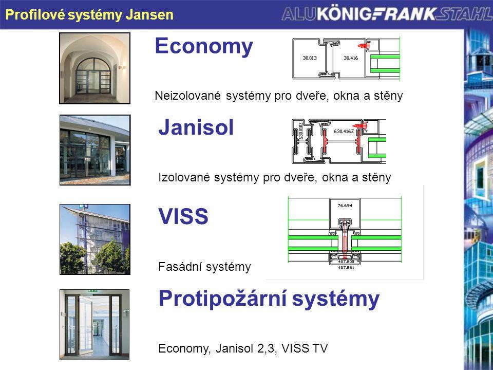 Economy Janisol VISS Protipožární systémy Profilové systémy Jansen