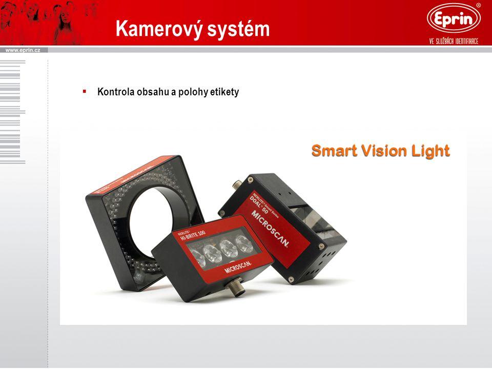 Kamerový systém Kontrola obsahu a polohy etikety