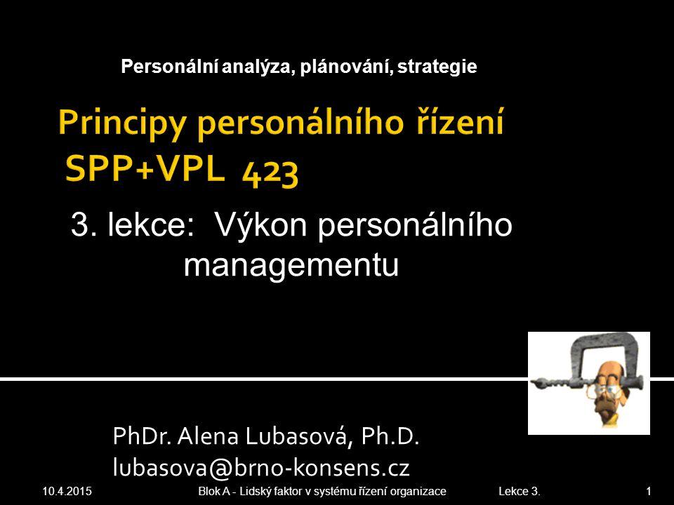 Principy personálního řízení SPP+VPL 423