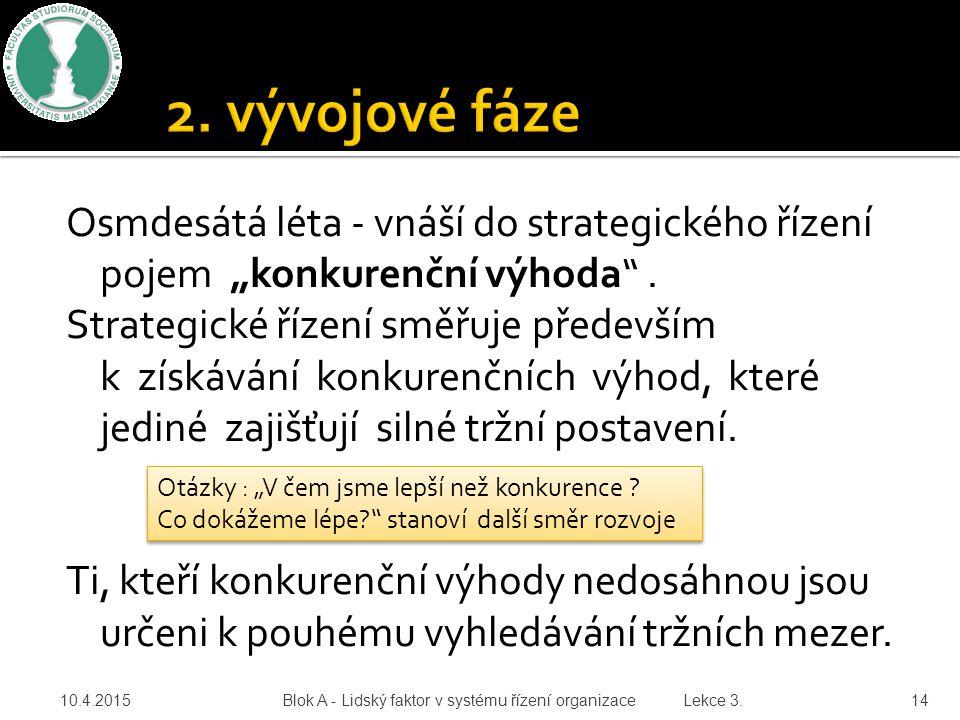2. vývojové fáze