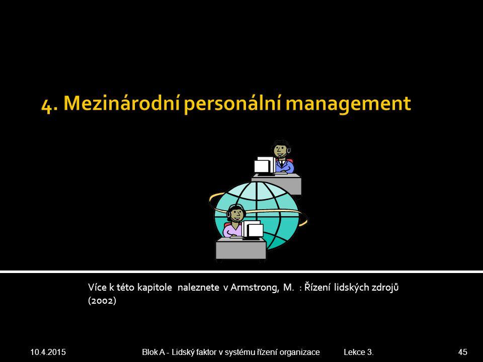 4. Mezinárodní personální management