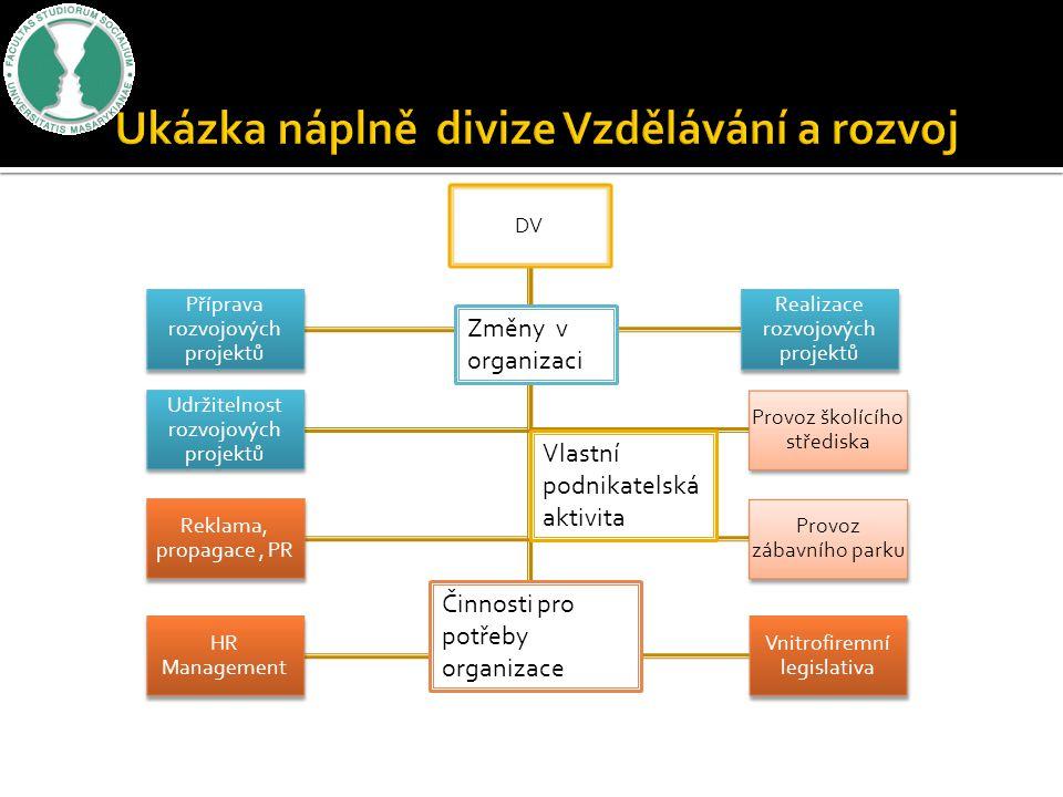Ukázka náplně divize Vzdělávání a rozvoj