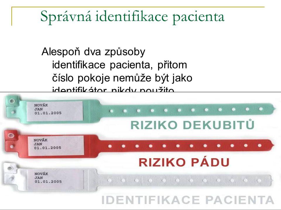 Správná identifikace pacienta