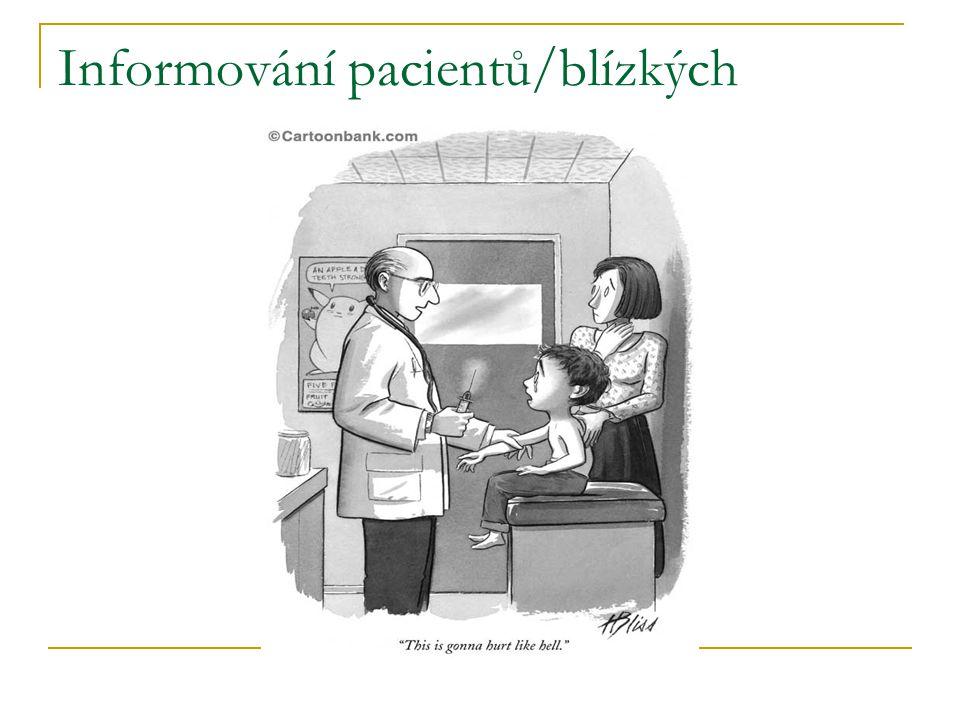 Informování pacientů/blízkých
