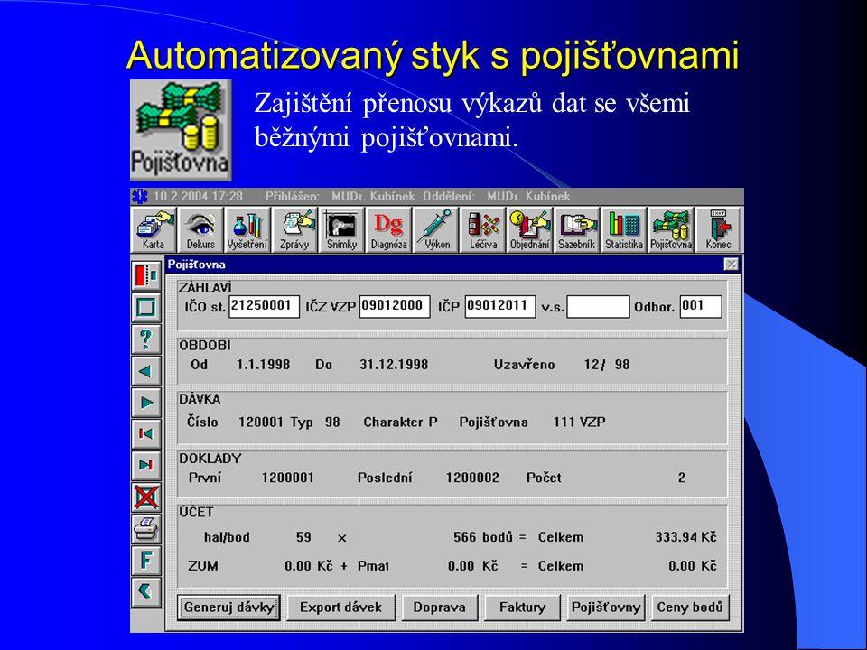 Automatizovaný styk s pojišťovnami