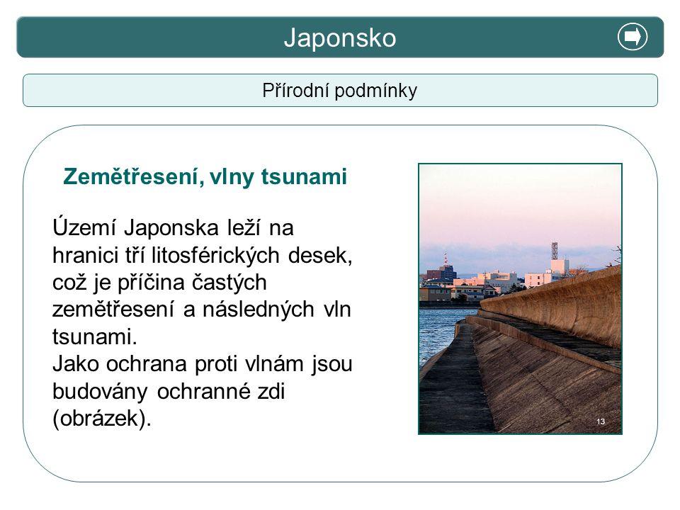 Japonsko X. Zajímavosti Zemětřesení, vlny tsunami
