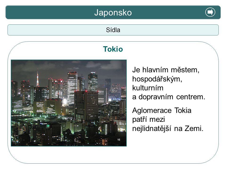Japonsko X. Zajímavosti Tokio Je hlavním městem,