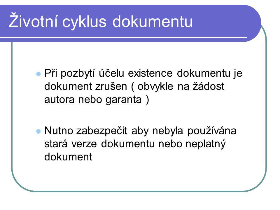 Životní cyklus dokumentu