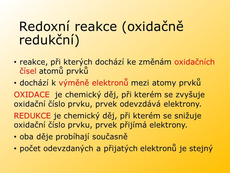 Redoxní reakce (oxidačně redukční)