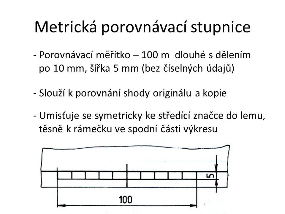 Metrická porovnávací stupnice
