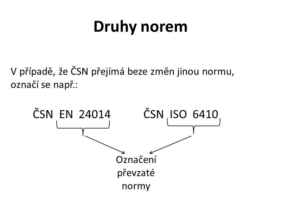 Označení převzaté normy