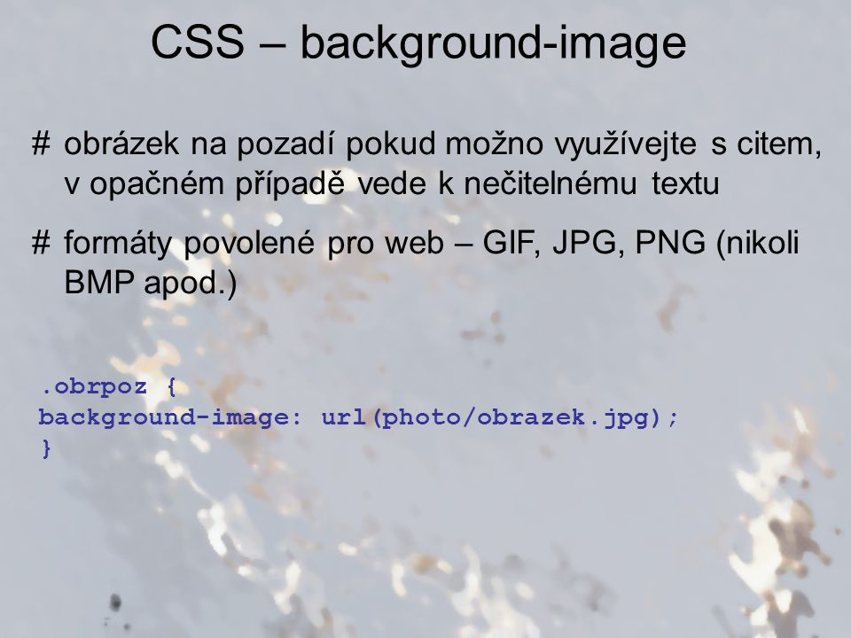CSS – background-image