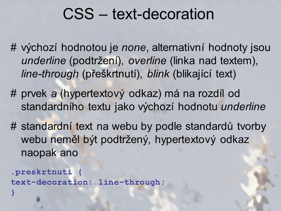 CSS – text-decoration