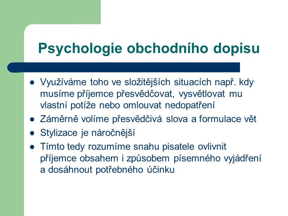 Psychologie obchodního dopisu