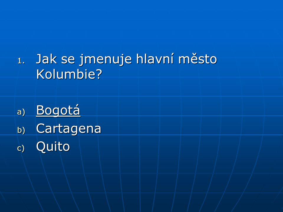Jak se jmenuje hlavní město Kolumbie