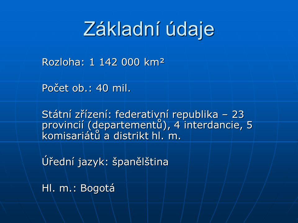 Základní údaje Rozloha: 1 142 000 km² Počet ob.: 40 mil.