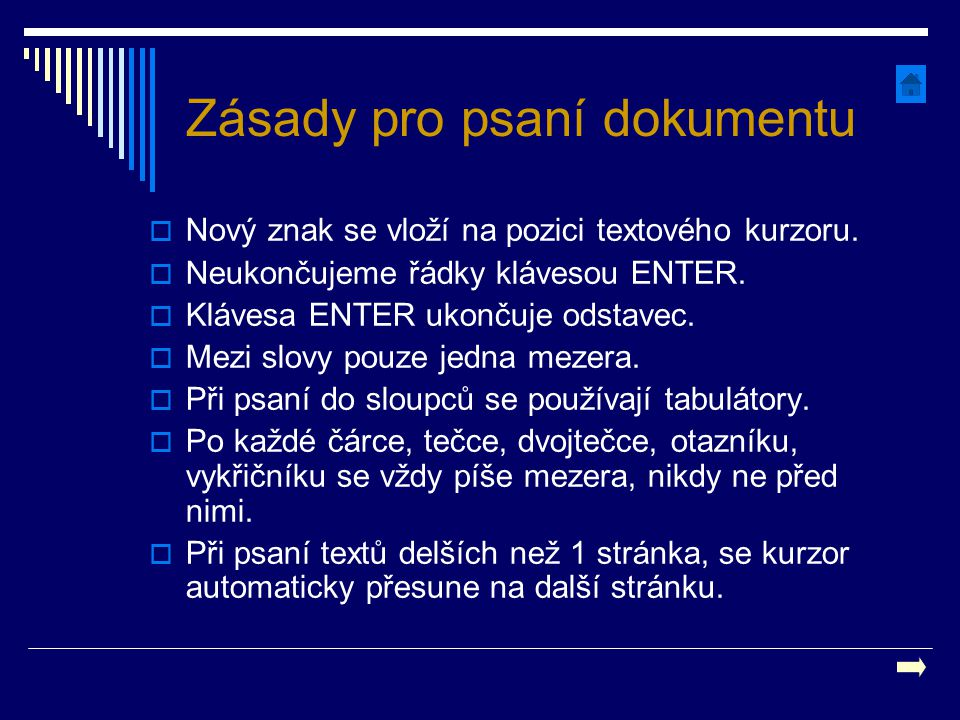 Zásady pro psaní dokumentu