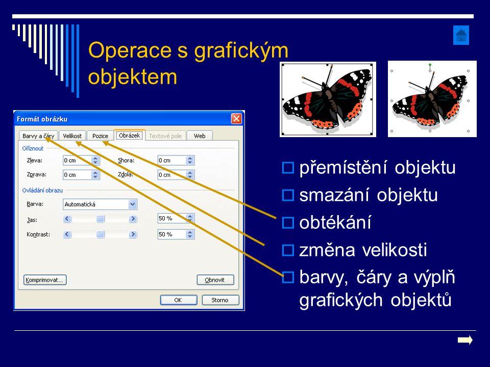 Operace s grafickým objektem