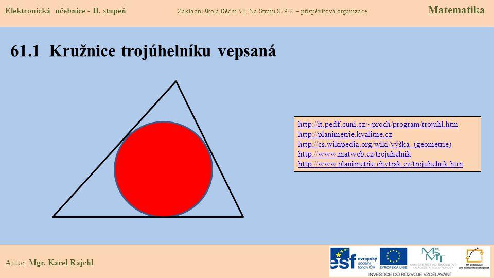 61.1 Kružnice trojúhelníku vepsaná