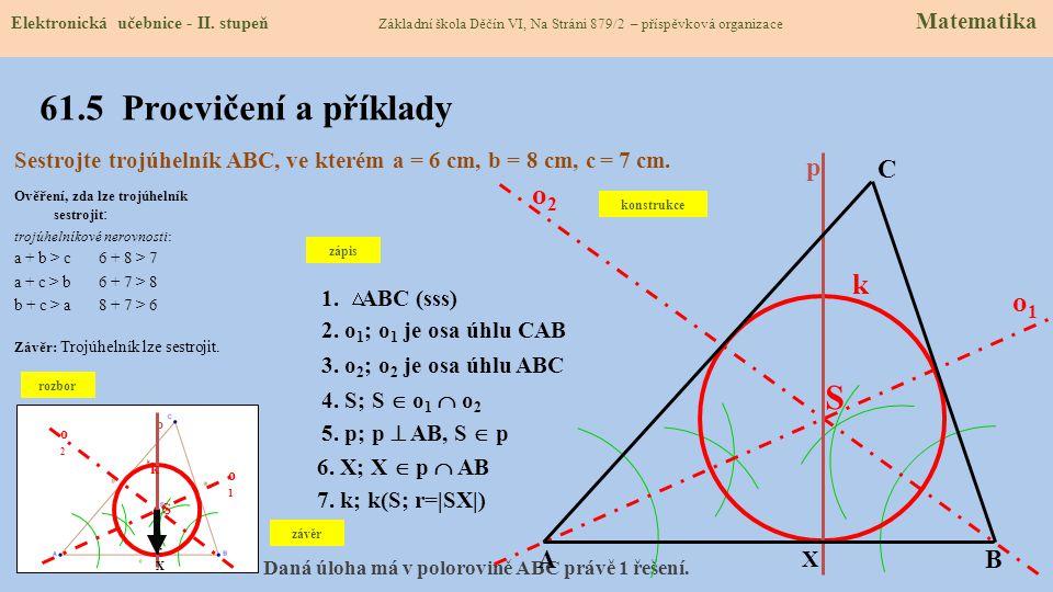 61.5 Procvičení a příklady S o2 k o1 A B C p