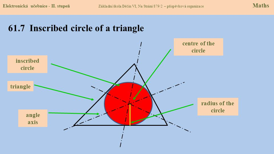 61.7 Inscribed circle of a triangle