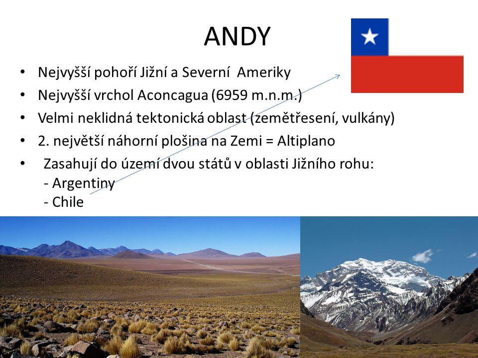 ANDY Nejvyšší pohoří Jižní a Severní Ameriky