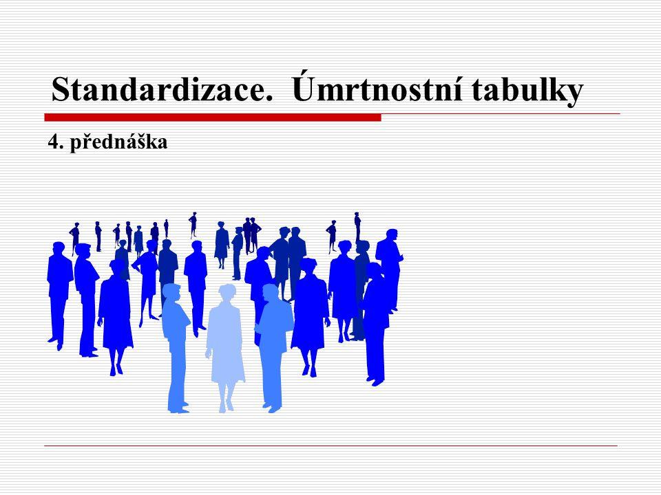 Standardizace. Úmrtnostní tabulky