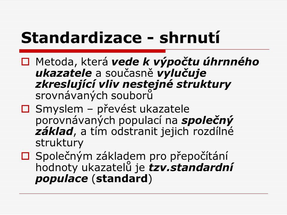 Standardizace - shrnutí