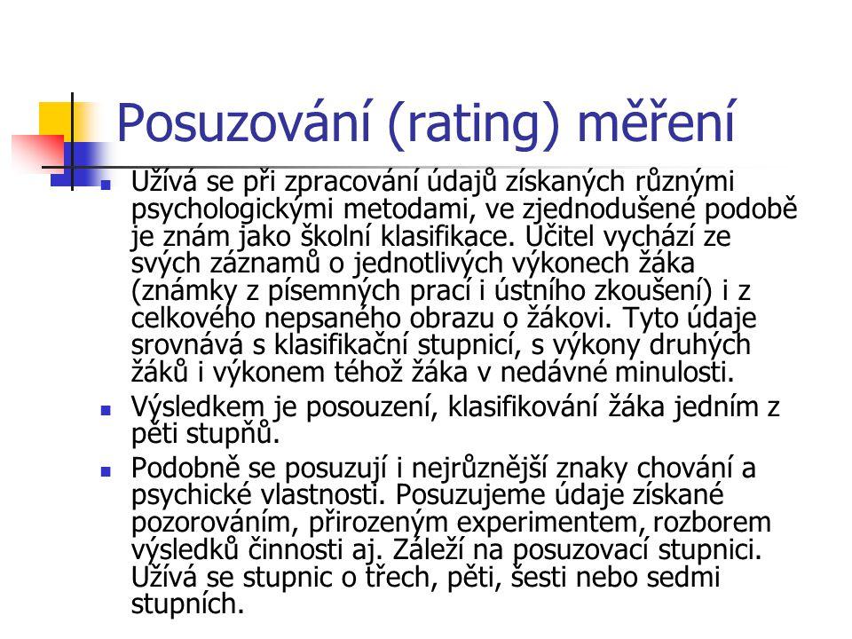 Posuzování (rating) měření