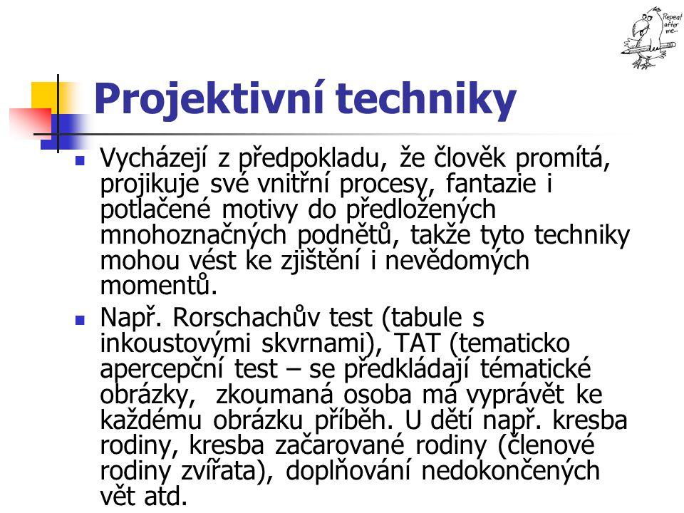 Projektivní techniky
