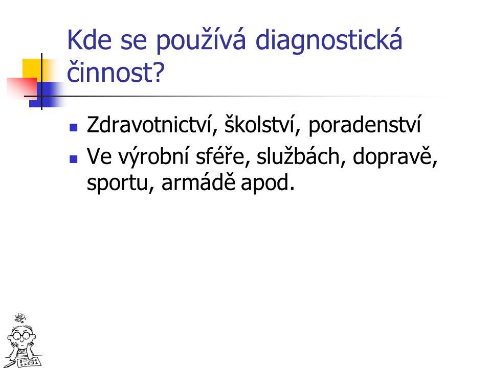 Kde se používá diagnostická činnost
