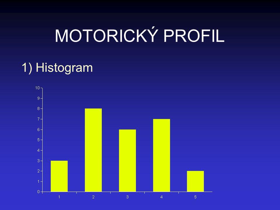 MOTORICKÝ PROFIL Histogram