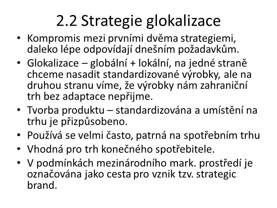 2.2 Strategie glokalizace