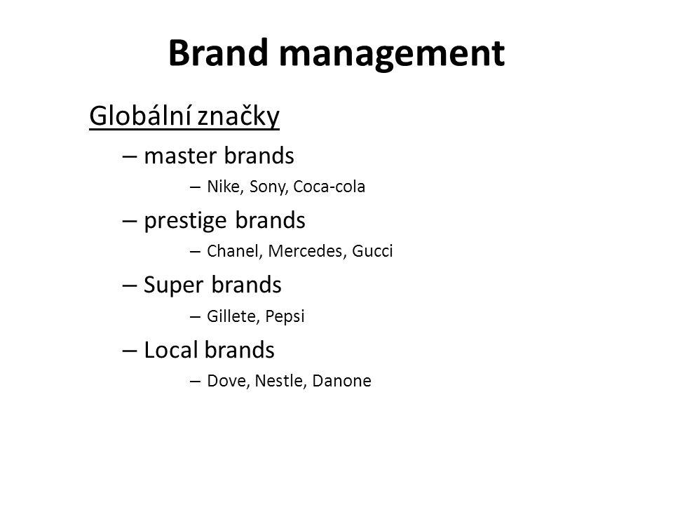 Brand management Globální značky master brands prestige brands