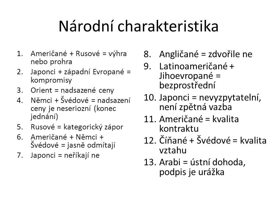Národní charakteristika
