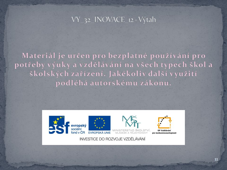 VY_32_INOVACE_12 - Výtah