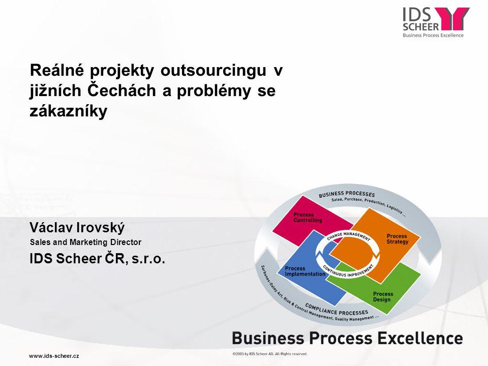 Reálné projekty outsourcingu v jižních Čechách a problémy se zákazníky