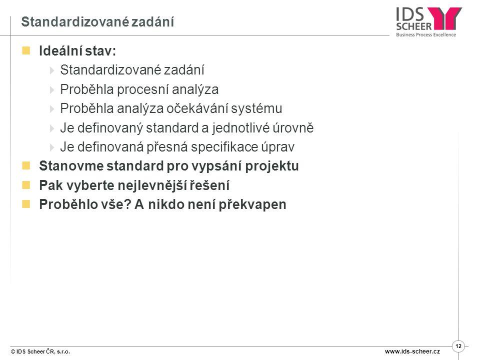 Standardizované zadání