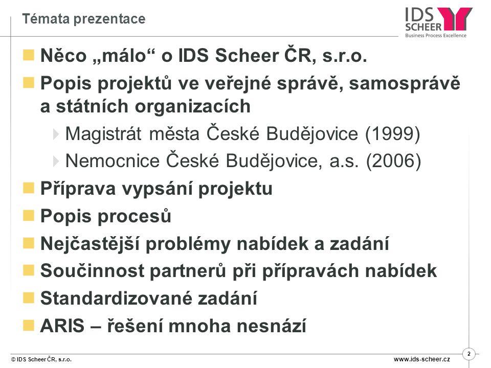 """Něco """"málo o IDS Scheer ČR, s.r.o."""